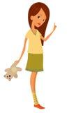 Meisje met stuk speelgoed Stock Foto