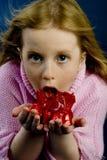 Meisje met suikergoed stock afbeelding