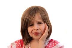 Meisje met tandpijn Royalty-vrije Stock Afbeeldingen