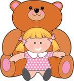 Meisje met teddy vector illustratie