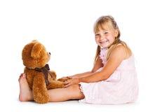 Meisje met teddy-beer Royalty-vrije Stock Afbeelding