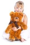 Meisje met teddy-beer Stock Afbeeldingen