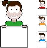 Meisje met teken Stock Fotografie