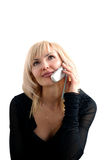 Meisje met telefoon Royalty-vrije Stock Afbeelding