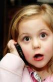 Meisje met telefoon Royalty-vrije Stock Foto's
