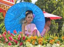 Meisje met Thaise kleding Royalty-vrije Stock Foto