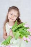 Meisje met tulpen Royalty-vrije Stock Foto