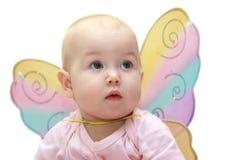 Meisje met vleugels Stock Afbeeldingen