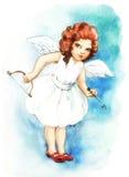 Meisje met vleugels Stock Fotografie