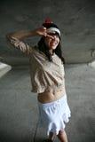Meisje met vredesteken Royalty-vrije Stock Afbeelding