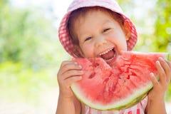 Meisje met watermeloen Stock Fotografie
