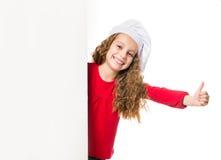 Meisje met witte raad Stock Fotografie