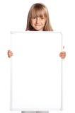 Meisje met witte spatie royalty-vrije stock afbeelding