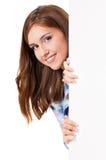 Meisje met witte spatie Royalty-vrije Stock Foto