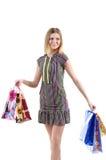 Meisje met zakken Royalty-vrije Stock Afbeelding