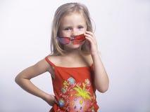 Meisje met zonnebril Stock Afbeeldingen