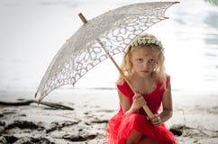 Meisje met zonnescherm Royalty-vrije Stock Afbeelding