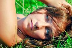Meisje, model, portret, kleur Stock Afbeelding