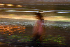 Meisje in motie Stock Fotografie