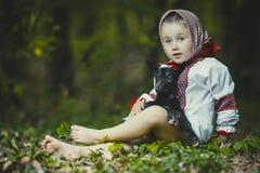 Meisje in nationaal kostuum Royalty-vrije Stock Foto
