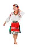 Meisje in Oekraïens nationaal kostuum Stock Fotografie