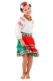Meisje in Oekraïens nationaal kostuum Royalty-vrije Stock Afbeelding
