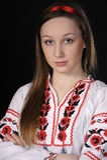 Meisje in Oekraïens nationaal kostuum Royalty-vrije Stock Foto's
