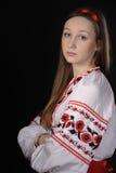 Meisje in Oekraïens nationaal kostuum Stock Afbeelding