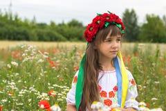 Meisje in Oekraïens nationaal kostuum Stock Afbeeldingen