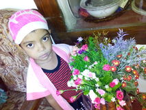 Meisje Omaya Stock Foto