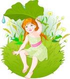 Meisje onder regen Royalty-vrije Stock Afbeeldingen