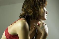 Meisje in ondergoed Stock Afbeelding