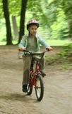 Meisje op de fiets. royalty-vrije stock afbeeldingen