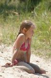 Meisje op de rivier Dniepr Royalty-vrije Stock Afbeeldingen