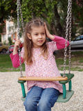Meisje op de Schommeling Royalty-vrije Stock Foto's