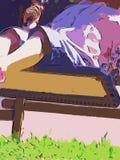 Meisje op de schommeling Stock Fotografie