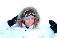 Meisje op de sneeuw Royalty-vrije Stock Foto