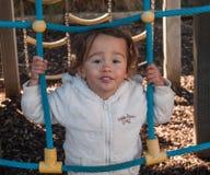 Meisje op de speelplaats Royalty-vrije Stock Afbeeldingen