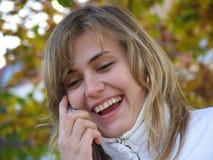 Meisje op de telefoon Royalty-vrije Stock Fotografie