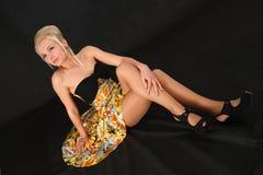 Meisje op de vloer Royalty-vrije Stock Afbeelding