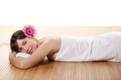 Meisje op een Kuuroord Royalty-vrije Stock Fotografie