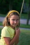Meisje op een schommeling Royalty-vrije Stock Foto