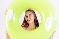 Meisje op een strand Royalty-vrije Stock Afbeeldingen