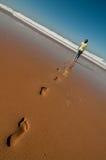 Meisje op een strand Stock Afbeelding
