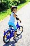 Meisje op fiets Stock Foto