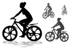 Meisje op fiets Royalty-vrije Stock Afbeelding