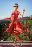 Meisje op het balkon Royalty-vrije Stock Foto's
