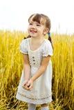 Meisje op het gebied Royalty-vrije Stock Foto's