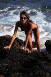 Meisje op het overzees Royalty-vrije Stock Foto's
