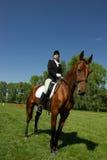 Meisje op het paard Stock Afbeeldingen